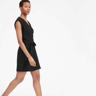 Everlane The Japanese GoWeave Short-Sleeve Mini Wrap Dress