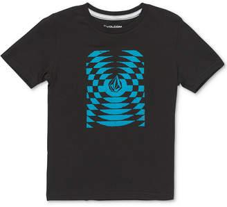 Volcom Boys Check Wreck Logo T-Shirt
