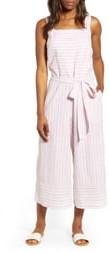 BeachLunchLounge Talia Stripe Cotton & Linen Jumpsuit