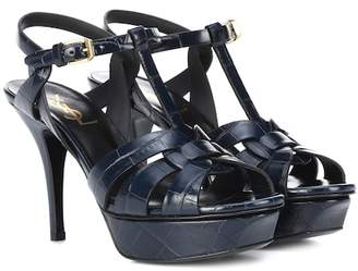 Saint Laurent Tribute 75 leather sandals