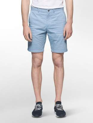 Calvin Klein slim fit cotton slub shorts