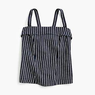 J.Crew Petite Point Sur turnover top in striped linen-cotton