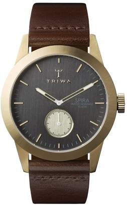Triwa Ash Spira SPST101CL010413 Dark gray / Brown Leather Analog Quartz Men's Watch