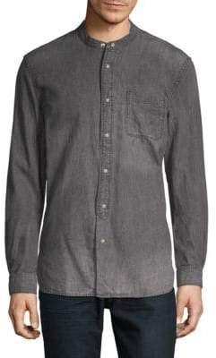 John Varvatos Mandarin Collar Button-Down Shirt