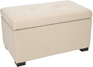 Safavieh Vivienne Small Tufted Beige Storage Bench