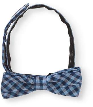 George Navy Modern Check Bow Tie
