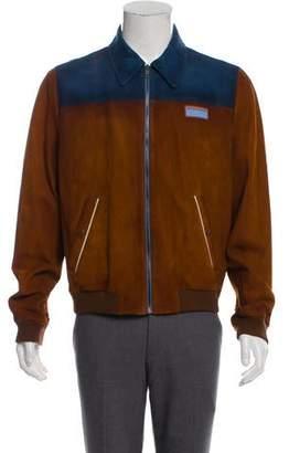 Prada Suede Zip-Up Jacket