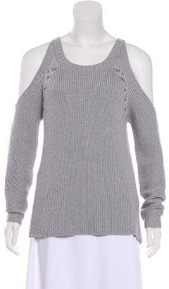 Ramy Brook Cold-Shoulder Merino Wool Sweater