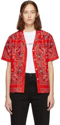 Alexander Wang Red Silk Bandana Hawaiian Shirt