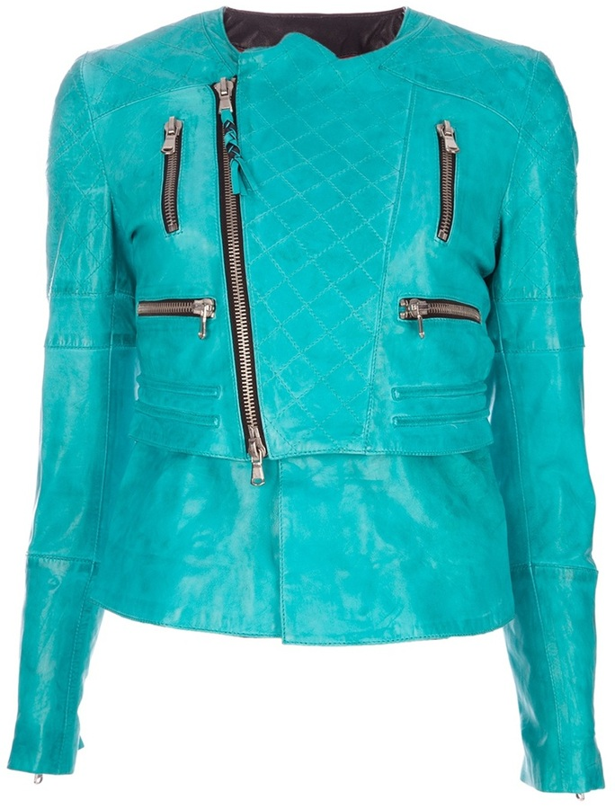 Le Sentier leather biker jacket