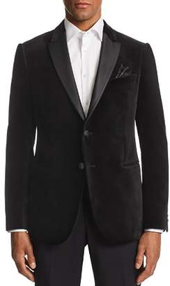 Giorgio Armani M-Line Contrast-Collar Velvet Tailored Fit Jacket
