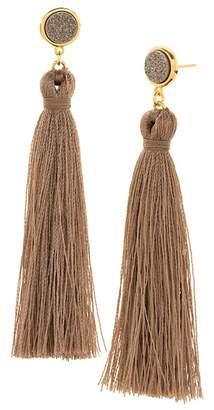 Gorjana 18K Yellow Gold Plated Astoria Druzy Tassel Drop Earrings