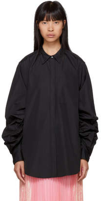 3.1 Phillip Lim Black Gathered Sleeve Shirt