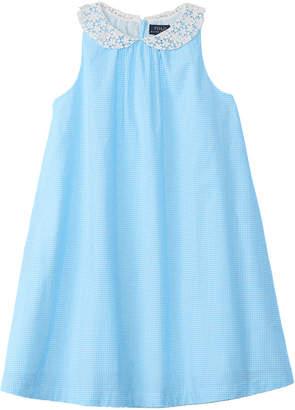 Ralph Lauren Polo Girls' Checked Shift Dress