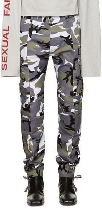 Vetements Grey Camo Cargo Trousers $1,395 thestylecure.com