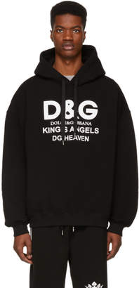 Dolce & Gabbana Black Kings Angels Hoodie