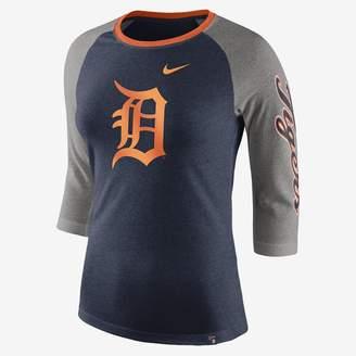 Nike Tri-Blend Raglan (MLB Tigers) Women's 3/4 Sleeve Top