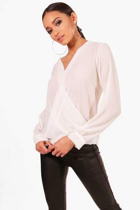boohoo Wrap Over Blouse