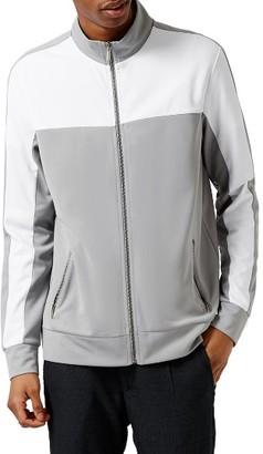 Men's Topman Colorblock Zip Track Jacket $65 thestylecure.com