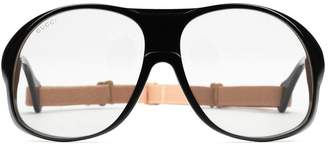 Gucci Round-frame acetate glasses with elastic