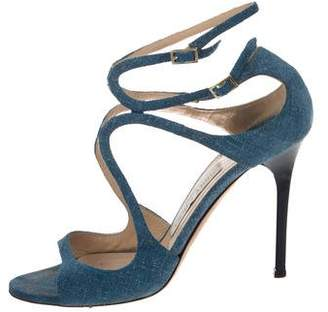 Jimmy Choo Denim Multistrap Sandals
