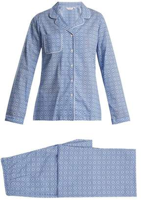 Derek Rose Ledbury 5 Cotton Pyjama Set - Womens - Blue Print