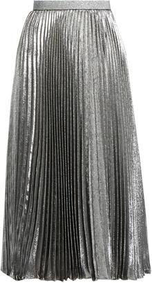 CHRISTOPHER KANE Pleated silk-blend lamé skirt $619 thestylecure.com