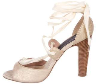 Marc Jacobs Suede Wrap-Around Sandals