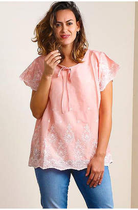 Asstd National Brand Embroidered Peasant Blouse