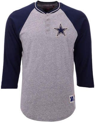 Mitchell & Ness Men's Dallas Cowboys Four Button Henley T-Shirt