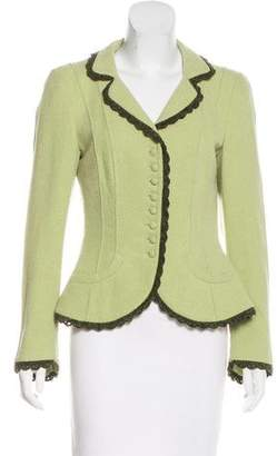 Rena Lange Virgin Wool Lightweight Blazer