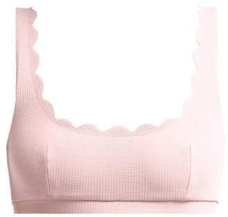 Marysia Swim Palm Springs Scallop Edged Bikini Top - Womens - Light Pink