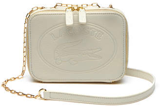 Lacoste Women's Fashion Show Oval Logo Grained Leather Crossover Bag