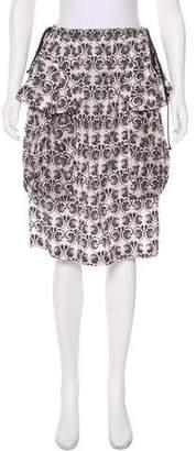 Issey Miyake Printed Knee-Length Skirt