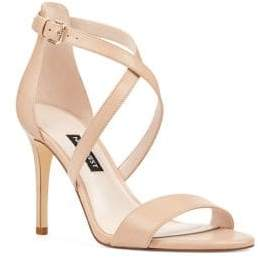 Nine West Mydebut Leather Ankle Strap Sandals