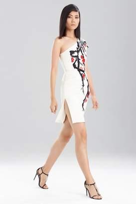 Josie Natori Duchess Satin One Shoulder Dress