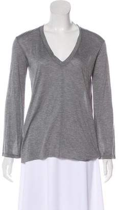 Helmut Lang V-neck Long Sleeve Top w/ Tags