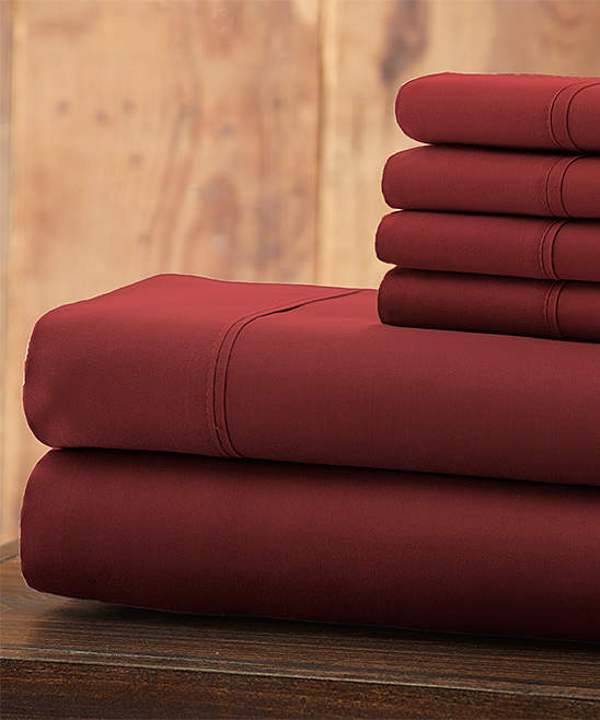 Burgundy Everyday Essentials Microfiber Sheet Set