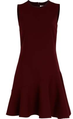 Victoria Beckham Victoria Crepe Flounce Hem Shift Dress