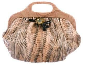 Lanvin Snakeskin Handle Bag