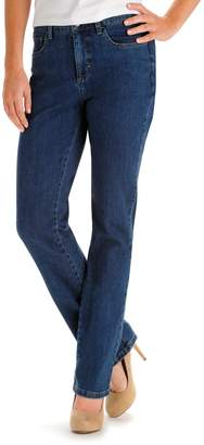 Lee Women's Monroe Classic Fit High Waisted Slimming Straight-Leg Jeans