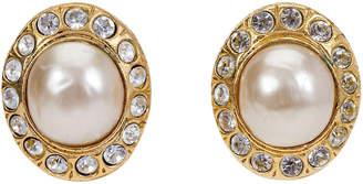 One Kings Lane Vintage 1970s Chanel Pearl & Rhinestone Earrings