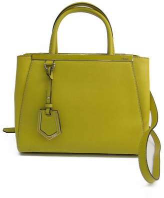 Fendi Yellow Leather Petite 2Jours Bag (SHA-16475)