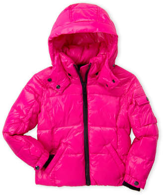 S13 Girls 4-6x) Fuchsia Hooded Coat