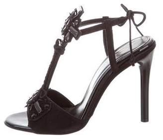 Oscar de la Renta Jewel Embellished Josefina Sandals w/ Tags