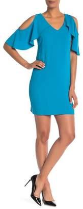 Trina Turk trina Kaidence Solid Cold Shoulder Sheath Dress