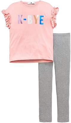 Very Girls 'K Bye' Slogan T-shirt & Legging Outfit