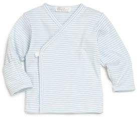 Kissy Kissy Baby's Blue-Striped Wrap Top
