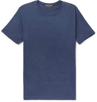 Loro Piana Silk And Cotton-Blend Jersey T-Shirt
