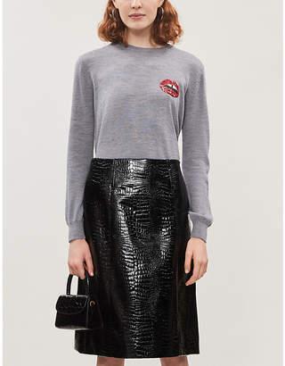 Markus Lupfer Natalie sequin-embellished merino wool jumper